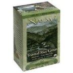 Numi Organic Toasted Rice Green Tea - 16 bags per pack - 6 packs per case.