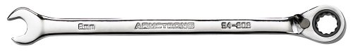 Armstrong 54-813 13mm 12 Point Full Polish Reversible Combination Ratcheting Wrench