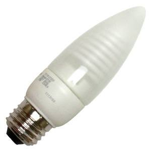 TCP 8T05F Cold Cathode Decorative Torpedo - 25 Watt eq. (only 5w used) Soft White (2700K) MEDIUM (e26) Base Frosted Chandelier Light Bulb (200 Lumens)