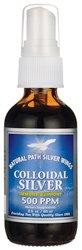 Colloidal Silver 500 ppm 2 fl Ounce (60 ml) Liquid