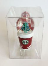 2006 Mini Ornaments - Starbucks Christmas Ornament - Mini Cup With Snowglobe - Holiday 2006