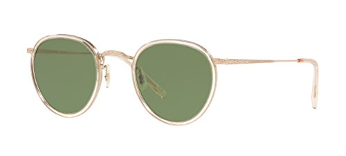Oliver Peoples Vintage Sunglasses MP-2 100% Authentic (Clear Frame Green G-15 Lens, 48 mm) (Peoples Sunglasses Oliver)