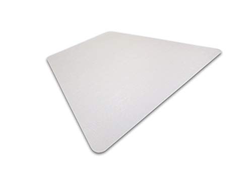 - Cleartex Ultimat, Corner Workstation Chair Mat, Polycarbonate, For Hard Floors, Size 48