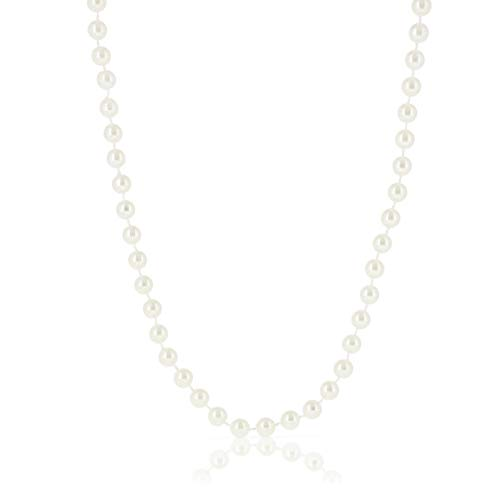 Blue Panda 24-Pack Bulk Fake Long Pearl Bead Necklace Costume Jewelry, 48 Inches]()