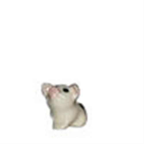 BABY Black & White PIG PIGLET Sits and Looks Up SUPER MINIATURE Figurine Ceramic HAGEN-RENAKER -