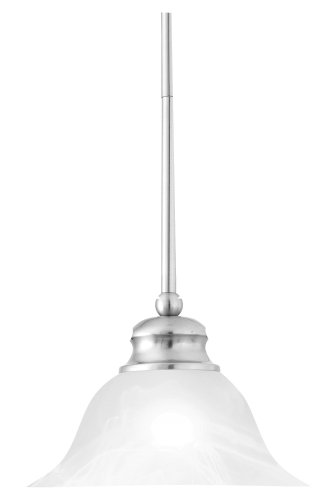 - Thomas Lighting SL829678 Essentials Pendant, Brushed Nickel