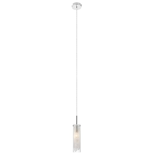 Elan 83065 Krysalis Pendant Lighting, 1 Light 60 Watts, Chrome - Couture 1 Light
