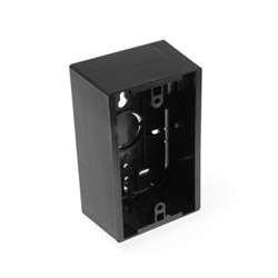 Leviton 42777-1EA Surface Mount Backbox, Single Gang, Black, 1.89
