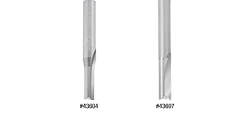Plastic Cutting 1//4 D x 3//4 CH x 1//4 SHK x 2 Inch Long Router Bit Amana Tool 43607 Solid Carbide Double O Flute