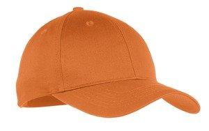 (Port & Company YCP80 Youth Six-Panel Twill Cap - Texas Orange - OSFA)