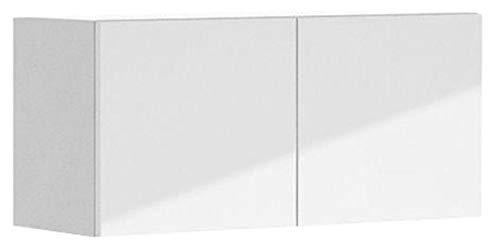33x15x12.5 in. Valencia Wall Bridge Cabinet in White Melamine and Door in White