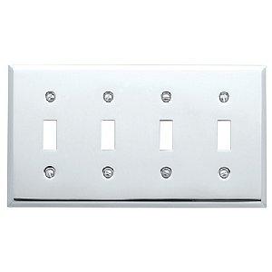 4772 260 Switch Plate Beveled - Quad Toggle