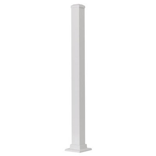 GILPIN IRONWORKS 629042FW Summit 43'' White Aluminum Post by Gilpin Ironworks