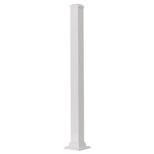 GILPIN IRONWORKS 629042FW Summit 43'' White Aluminum Post