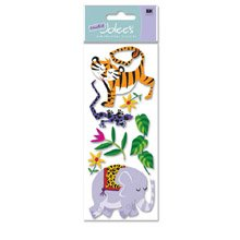 The Wild Dimensional Stickers-Elephant & - Stickers Dimensional Jolees Wild