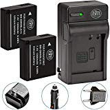 BM de primera Pack de 2 de DMW - BLG10 baterías y cargador de batería para Panasonic Lumix DMC - gx80, DMC - gx85, DMC -...