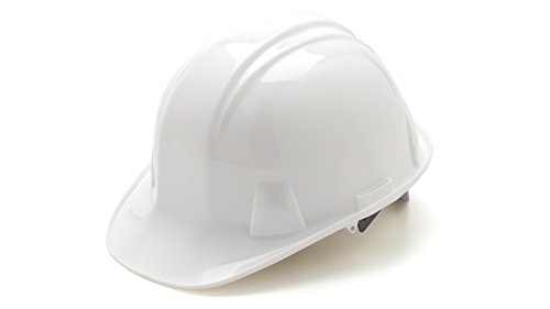 Pyramex Cap Style 4 Point Ratchet Suspension Hard Hat with Rain Trough - Comfortable Low Profile Design, - Rain City Eyewear