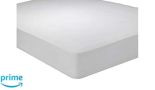 Pikolin Home Protector de colchón Punto antialérgico, Transpirable, 105 x 190/200 cm, Color Blanco, 200: Amazon.es: Hogar