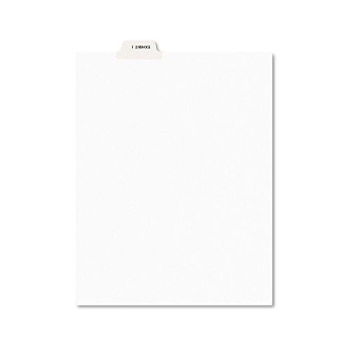Avery 11948 Avery-Style Preprinted Legal Bottom Tab Divider, Exhibit I, Letter, White (Pack of 25)