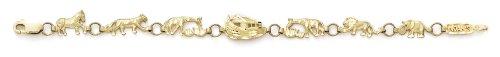 Bracelet 14 carats Arc-Animaux-JewelryWeb - 18,4 cm