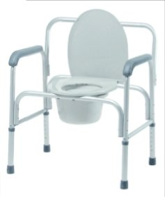 Bariatric 3-in-1 Aluminum Commode by GF Health