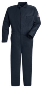 Flame Resistant Contractor Coverall, Navy Blue, L (Contractor 46 Fr Coverall)