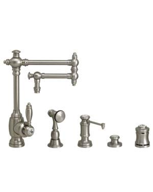 Brass Polished 4pn (Waterstone 4100-12-4-PN Towson Kitchen Faucet - 12