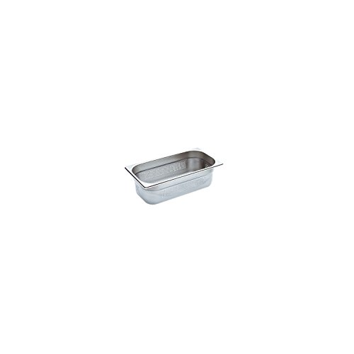 Blanco Stainless Steel Gastronorm Pan-GN 1/3, Hole Punched, 1.6Litre Capacity, Pack of 1, 1565813