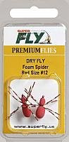 Superfly Dry Fly Foam Spider#12 Fishing Equipment, Red