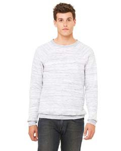 Bella + Canvas Unisex Sponge Fleece Crew Neck Sweatshirt (Light Grey Marble Fleece) (S)