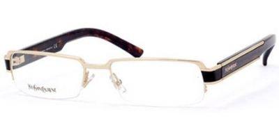 YVES SAINT LAURENT Eyeglasses 2220 0QGQ Gold Havana 53MM