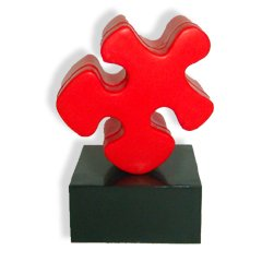 Puzzle Piece Trophy Employee Leadership & Student Achievement Award (Congrats On A Job Well Done)