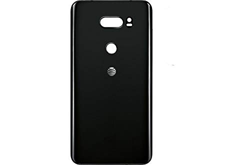Foir Replacement Battery Back Glass Cover Rear Door Housing for LG V30 (Black AT&T Logo)