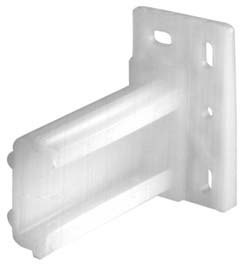 Handyct Rear Mounting Brackets for Epoxy Slides, Plastic 2 1/4 Inch Long, Pair L an R