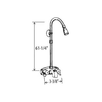 Add On Shower Set For Clawfoot Tub 54 Chrome Rectangular Shower Rod