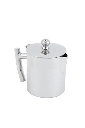 "Bon Chef 61306 Stainless Steel 18/8 Empire Collection Milk Pot, 5 oz Capacity, 2-1/2"" Diameter x 4"" Height"