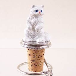 (White Persian Cat Wine Bottle Stopper CTB08 [Kitchen] by Conversation Concepts)