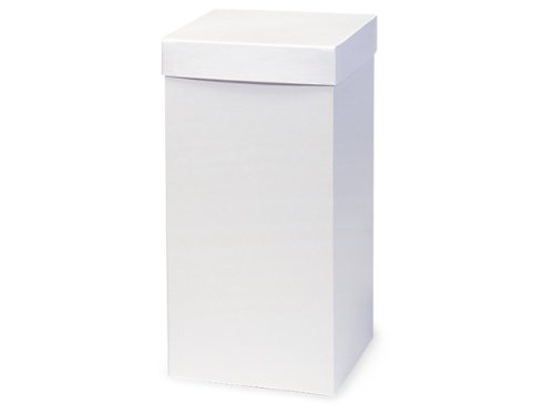 Pack of 50, White Gloss Hi-Wall 6 x 6 x 12'' 100% Recycled Giftware Box Base Use Food Safe Barrier Like Food Grade Tissue or Cello for Food Packaging(Lids Sold Separately) by Generic