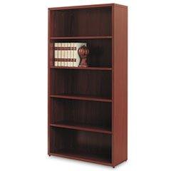 (Reg 10500 Series Laminate Bookcase, Five-Shelf, 36w x 13-1/8d x 71h, Mahogany)