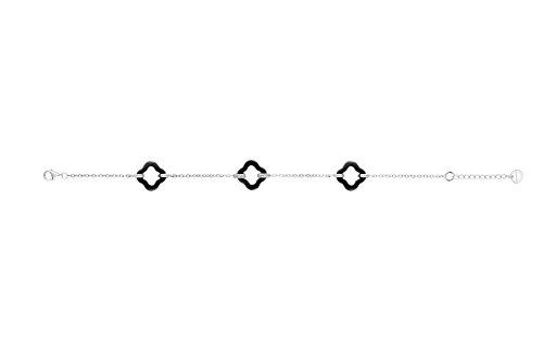 Ceranity - Bracelet - Argent 925 - Diamant 0.01 cts - 19 cm - 1-38/0013-N