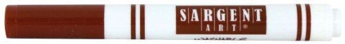 Sargent Art 12 Count Broad Tip Marker, Brown