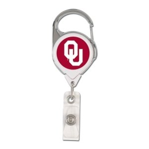 WinCraft NCAA Oklahoma Sooners Retractable Premium Badge Holder, Team Color, One Size