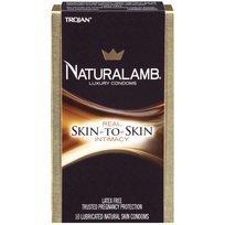 Naturalamb Natural Skin Condoms, Lubricated, 10 condoms (Pack of 3) by Naturalamb