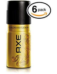 AXE Gold Temptation Body Spray Antiperspirant & Deodorant. 48 Hour Odor Protection! Energized & Fresh! (6 Cans, 5oz Each Can)