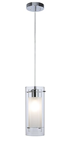 - Pendant Lighting Contemporary 1 Light Pendant Hanging Light with Clear and Frost Glass in Chrome Mini Pendant Light XiNBEi-Lighting XB-P1159-CH