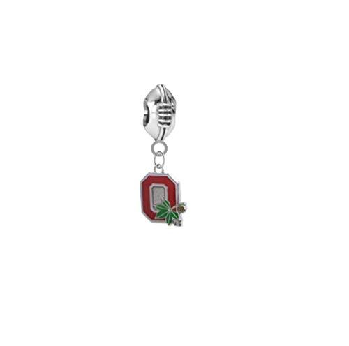 Ohio State Buckeyes Style 2 Football 3D Universal European Bracelet Charm ()