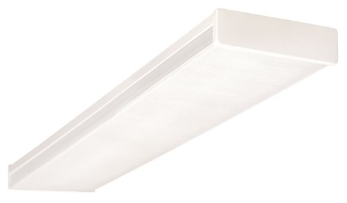 Wrap Fluorescent Light Around (NICOR Lighting 4 Ft. Standard Dual-Lamp 32W T8 Fluorescent Wraparound Ceiling Fixture with Clear Prismatic Acrylic Lens (10370EB))