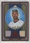 Jermaine Framed Dye (Jermaine Dye #/100 (Baseball Card) 2005 Donruss Diamond Kings - [Base] - Red Framed Materials [Memorabilia] #166)