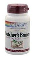 Solaray Butcher's Broom Root Extract -- 100 mg - 60 Capsules - 2pc (Solaray Butchers Broom)