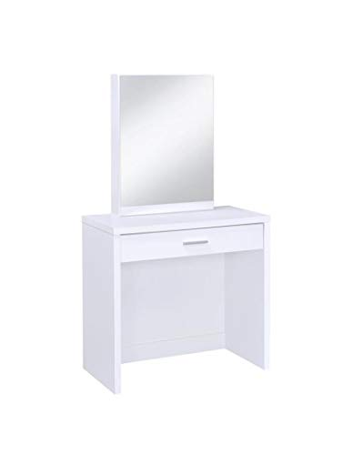 2-piece Vanity Set with Hidden Mirror Storage and Lift-Top Stool -